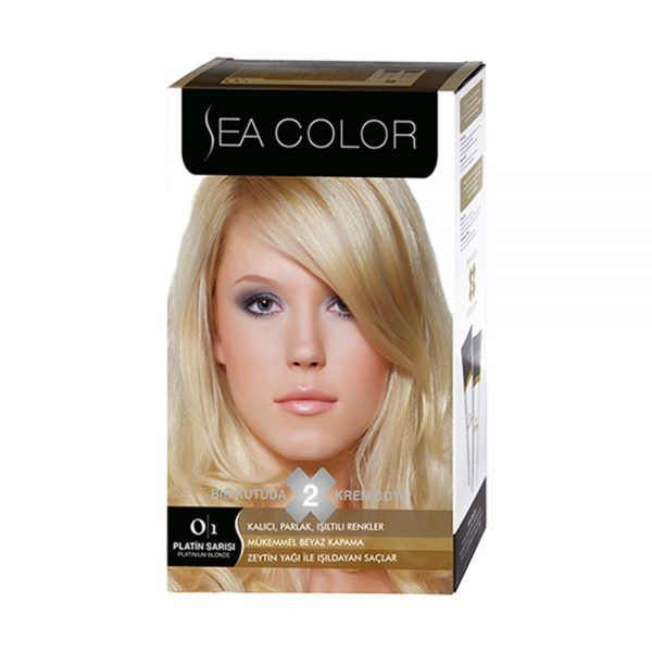 Sea Color Haar verf Platin Sari 0/1